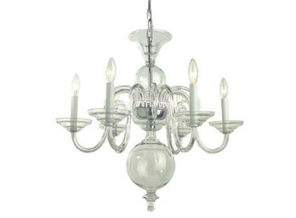 Eliza clear chandelier