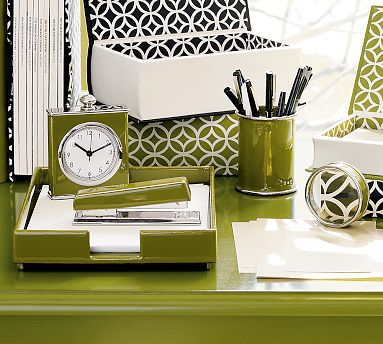 Green desk accessories
